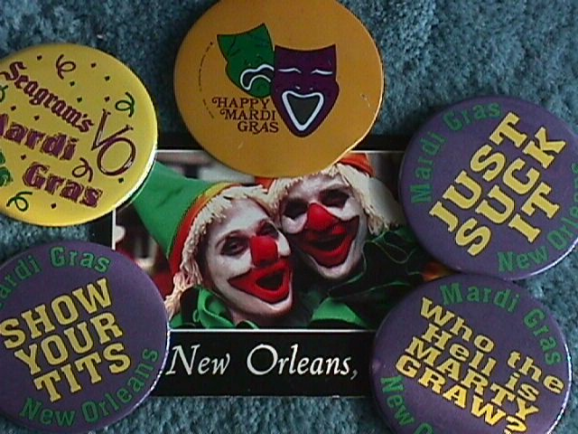 Mardi Gras Pin Collection